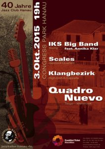 Poster 40 Jahre Jazz Club Hanau